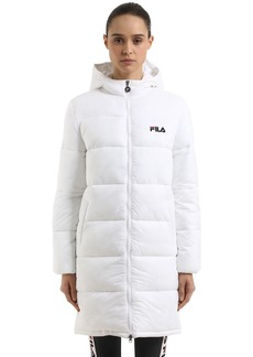 Fila Zia Hooded Nylon Puffer Coat
