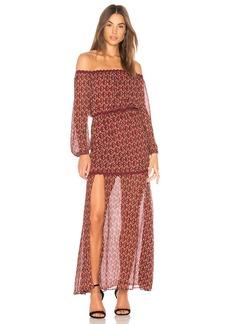 findersKEEPERS Drift Off the Shoulder Maxi Dress