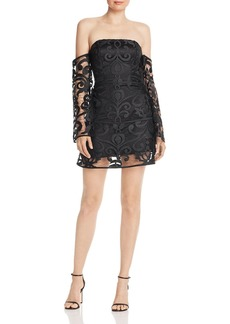 findersKEEPERS Finders Keepers Alchemy Off-The-Shoulder Lace Mini Dress - 100% Exclusive