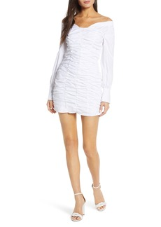 findersKEEPERS Finders Keepers Bailey Long Sleeve Shirting Minidress