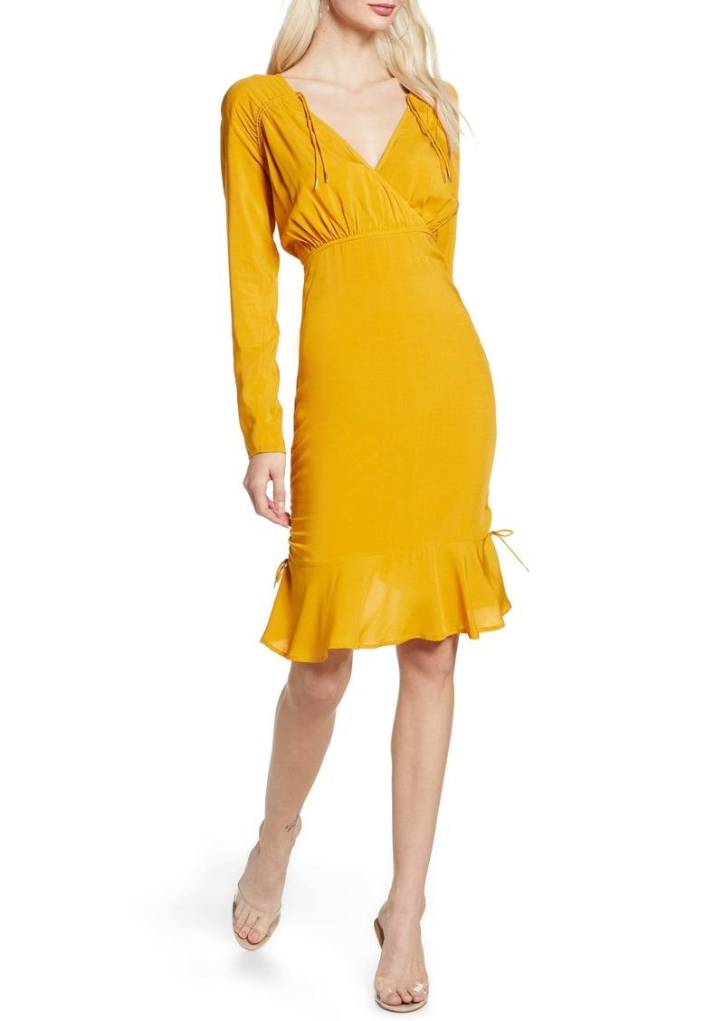 findersKEEPERS Finders Keepers Bloom Long Sleeve Cinch Dress