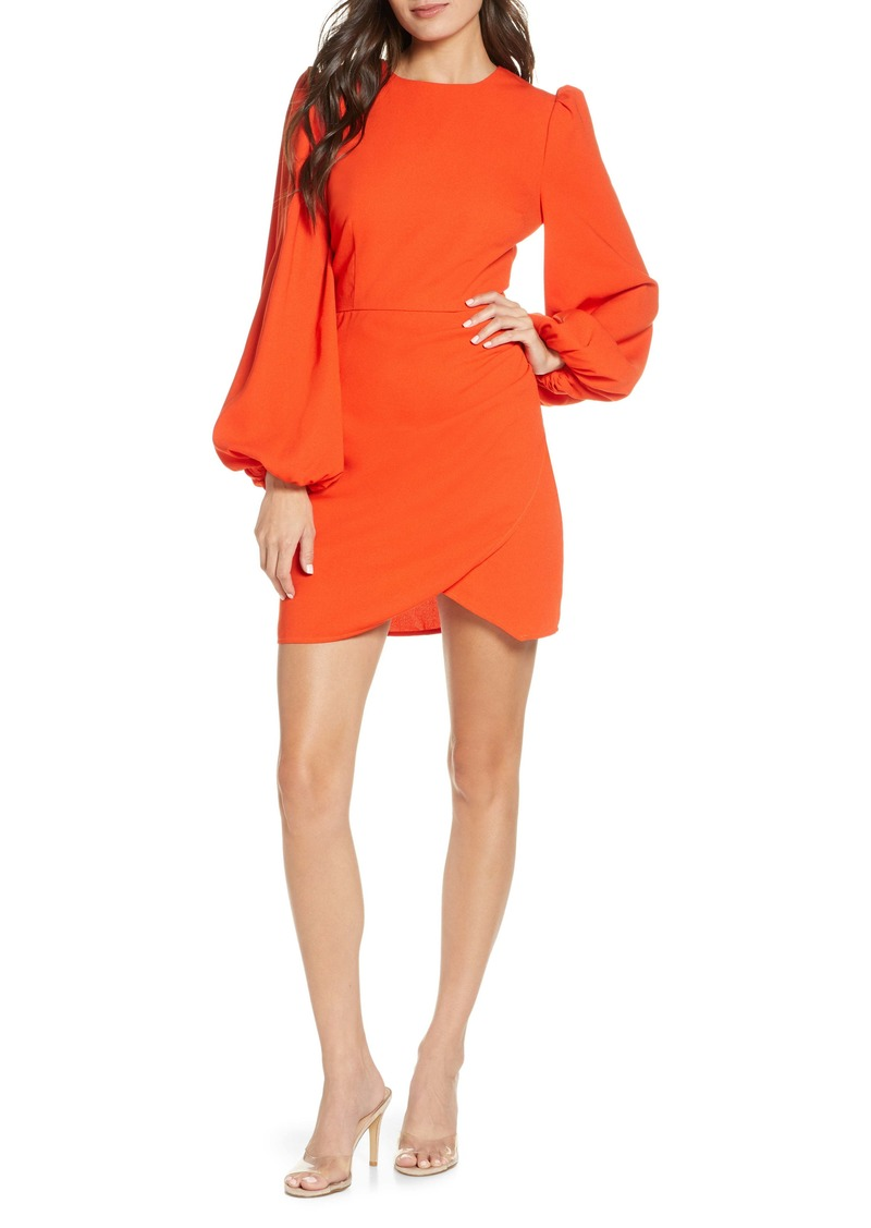 findersKEEPERS Finders Keepers Chains Back Cutout Long Sleeve Minidress