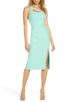 findersKEEPERS Finders Keepers Daniella One-Shoulder Crepe Sheath Dress