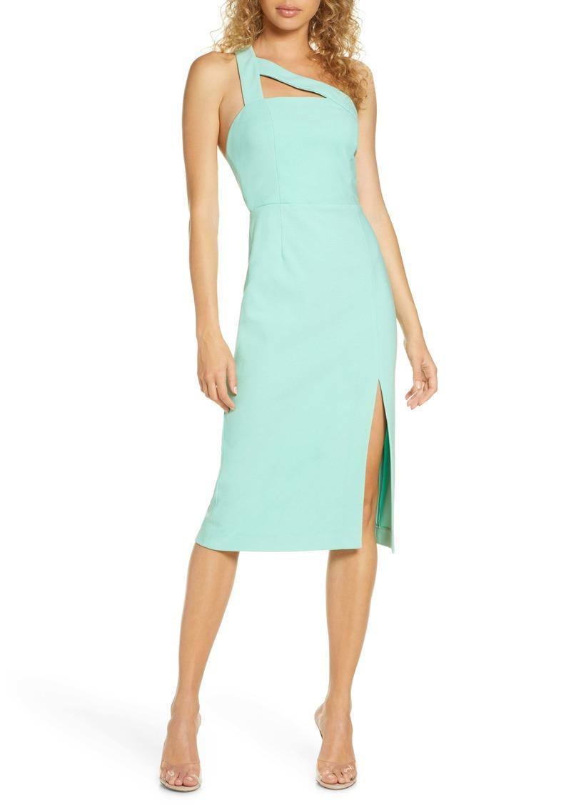 findersKEEPERS Finders Keepers Daniella One-Shoulder Crepe Sheath Dress