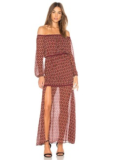 findersKEEPERS Finders Keepers Drift Off the Shoulder Maxi Dress