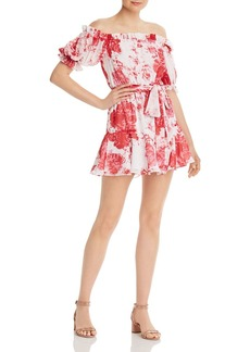 findersKEEPERS Finders Keepers Enchanted Floral Off-the-Shoulder Mini Dress - 100% Exclusive