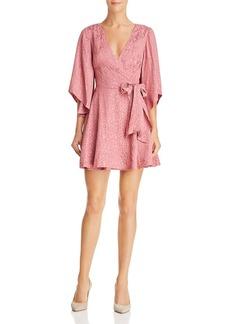 findersKEEPERS Finders Keepers Heatwave Leopard Print Wrap Dress