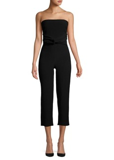 findersKEEPERS Finders Keepers Knot-Front Strapless Jumpsuit