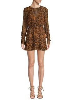 findersKEEPERS Finders Keepers Lana Snake-Print Mini Dress