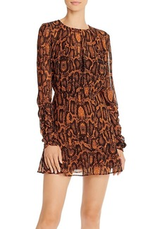 findersKEEPERS Finders Keepers Lana Snakeskin-Print Mini Dress