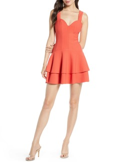 findersKEEPERS Finders Keepers Lines Tiered Minidress