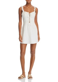 findersKEEPERS Finders Keepers Lola Ruffled Lace-Up Dress - 100% Exclusive