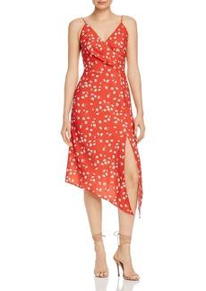 findersKEEPERS Finders Keepers Mae Asymmetric Floral Midi Dress
