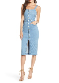 findersKEEPERS Finders Keepers Mia Stretch Denim Sundress