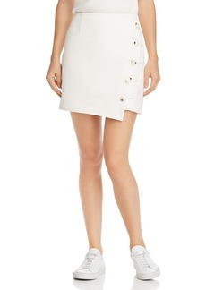 findersKEEPERS Finders Keepers Mila Asymmetric Button-Front Skirt
