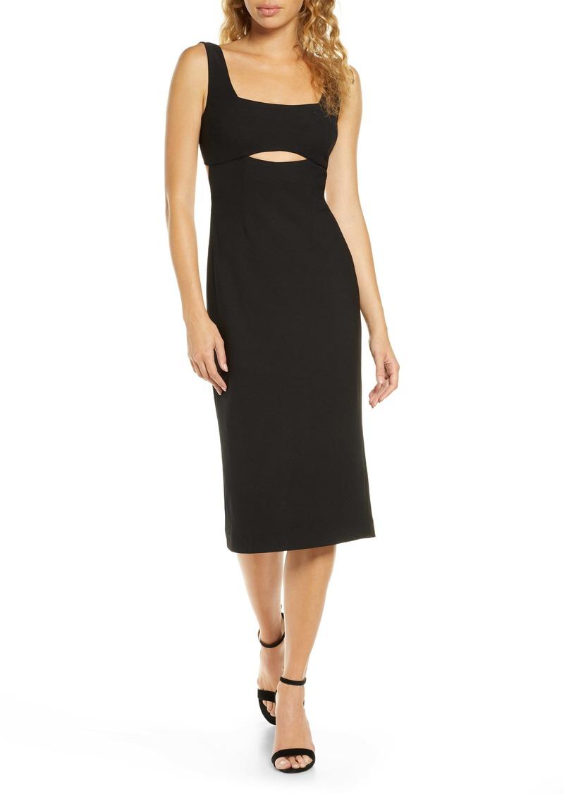 findersKEEPERS Finders Keepers Nadia Cutout Midi Dress