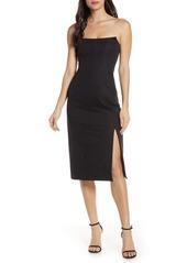findersKEEPERS Finders Keepers Naomi Strapless Midi Dress