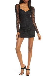 findersKEEPERS Finders Keepers Palermo Long Sleeve Ruched Minidress