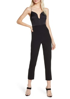 findersKEEPERS Finders Keepers Paradise Plunge Neck Tapered Leg Jumpsuit