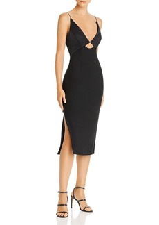 findersKEEPERS Finders Keepers Paradise Plunging Cutout Midi Dress