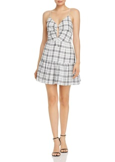 findersKEEPERS Finders Keepers Sadie Plaid Drawstring-Detail Mini Dress