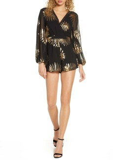 findersKEEPERS Finders Keepers Sequin Long Sleeve Georgette Romper