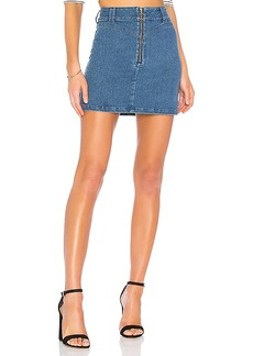 findersKEEPERS Finders Keepers Slide Denim Skirt