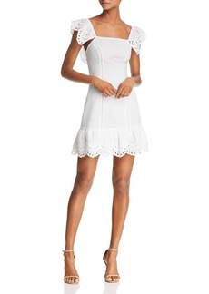 findersKEEPERS Finders Keepers Sundays Eyelet Mini Dress