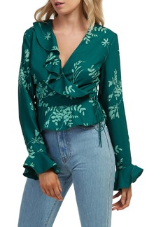 findersKEEPERS Finders Keepers the Label Cosmos Wrap Top