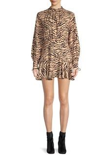 findersKEEPERS Finders Keepers Tiger-Print Mini Dress