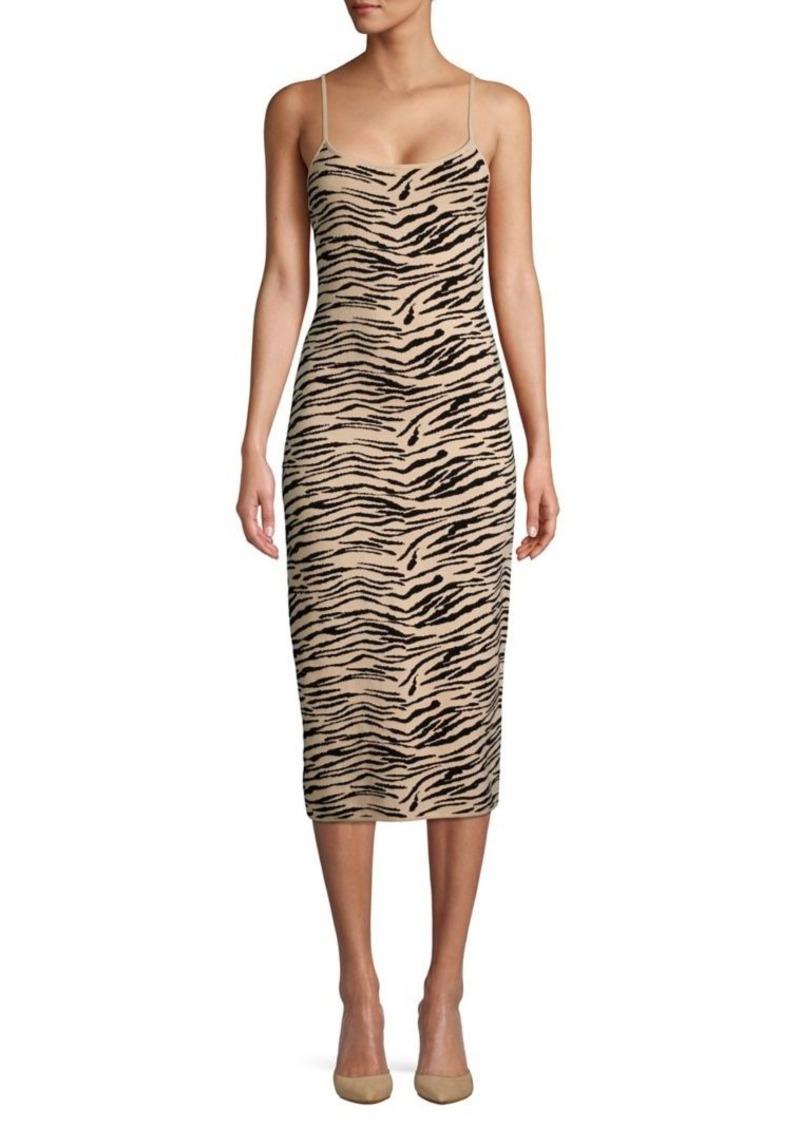 findersKEEPERS Finders Keepers Tiger Stripes Cotton-Blend Midi Dress