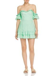 findersKEEPERS Finders Keepers Wildflower Off-the-Shoulder Mini Dress