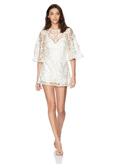 findersKEEPERS Women's Alchemy Lace Long Sleeve Playsuit  L