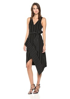 findersKEEPERS Women's Alps Sleeveless Striped Asymmetrical Hem Midi Dress  M