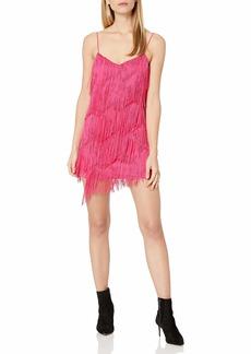 findersKEEPERS Women's Ana Sleeveless Fringe Flapper Dress  S