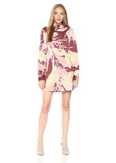 findersKEEPERS Women's Celestial Print Long Sleeve Shift Dress