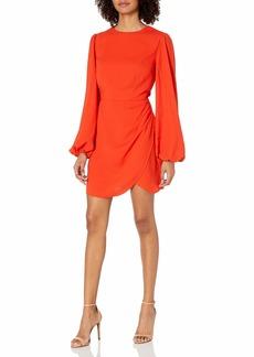 findersKEEPERS Women's Chains Longsleeve Short Dress MORANGE M