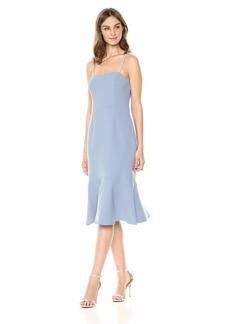 findersKEEPERS Women's Continuum Sleeveless Flare Stretch Crepe Midi Sheath Dress  M