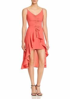 findersKEEPERS Women's Daytrip HI-LO Sleeveless Ruffle Short Dress  XL