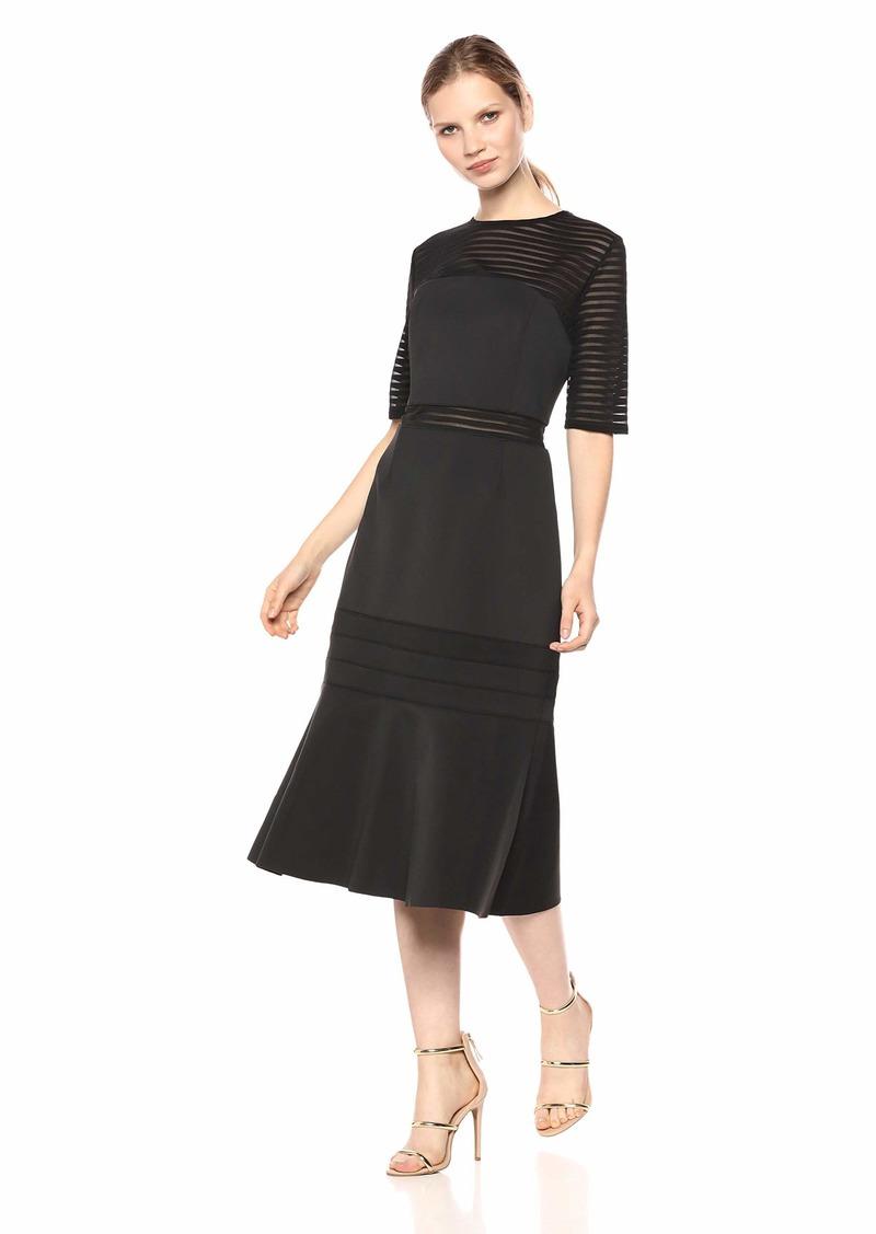 findersKEEPERS Women's Deception Crew Neck Short Sleeve Midi Dress  S