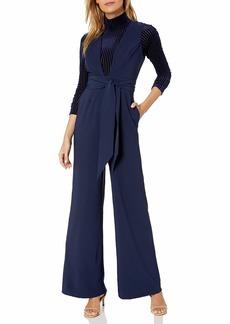 findersKEEPERS Women's Essie Sleeveless Plunging Wide Leg Jumpsuit  M
