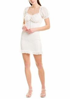 findersKEEPERS Women's Eva Puff Sleeve Smocked Mini Dress  L