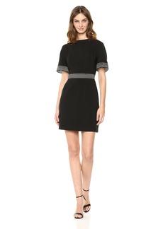 findersKEEPERS Women's Firelight Short Sleeve Sheer Detail Mini Dress  L
