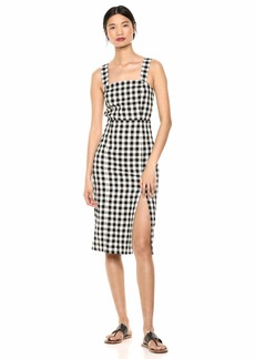 findersKEEPERS Women's Gigi Gingham Sleeveless Midi Sheath Dress  L