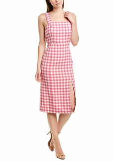 findersKEEPERS Women's Gigi Gingham Sleeveless Midi Sheath Dress  M