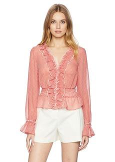findersKEEPERS Women's Horizons Longsleeve Shirt red Gingham M