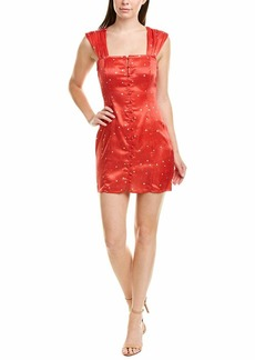 findersKEEPERS Women's Lovers Sleeveless Print Fitted Short Mini Dress red Heart m