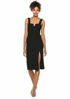 findersKEEPERS Women's Luna Bodycon Crepe Midi Sheath Dress  L