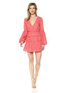findersKEEPERS Women's Maella V Neck Long Sleeve Mini Dress  L