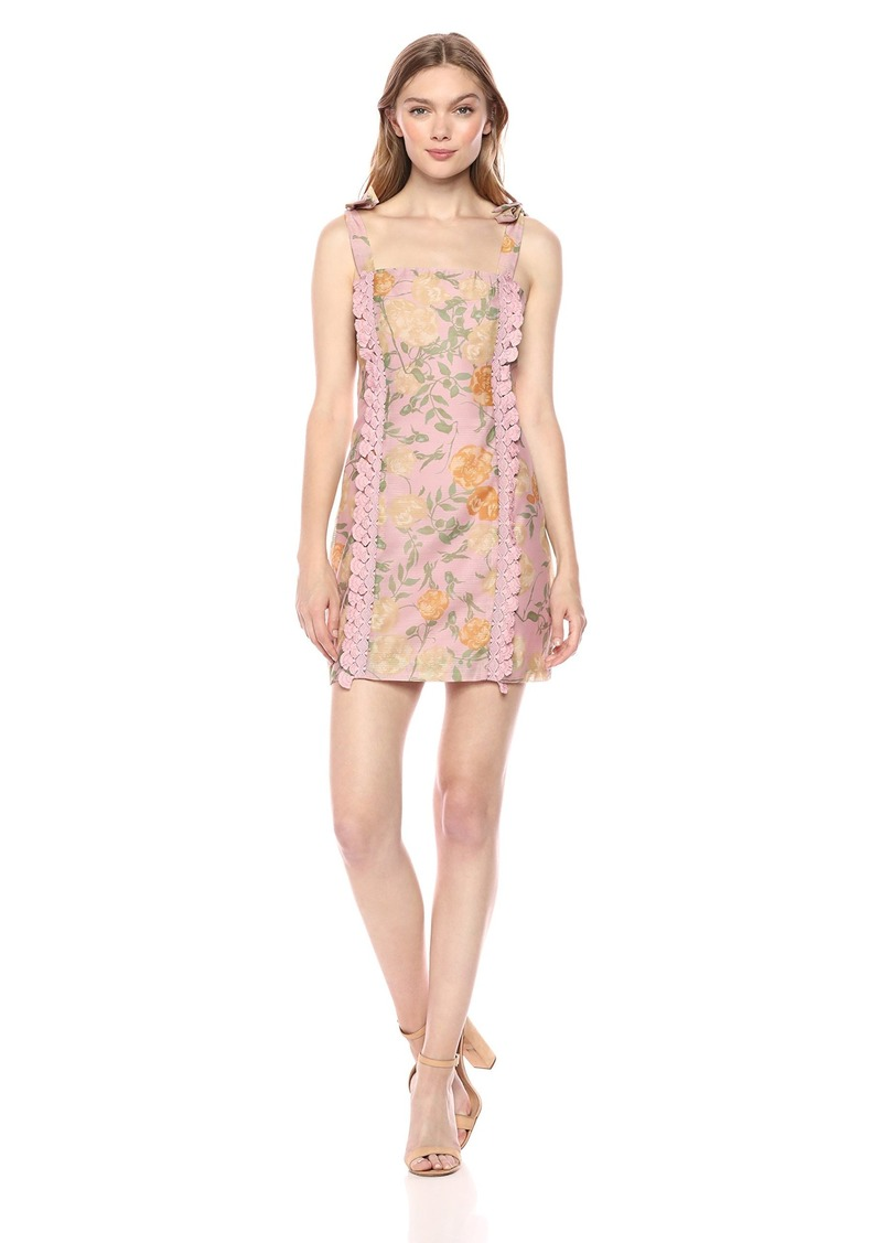 findersKEEPERS Women's Meadows LACE Detail Sleeveless Mini Sheath Dress  XL